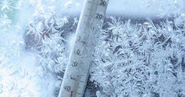 Cea mai scăzută temperatură din acest sezon: minus 4,2 grade Celsius