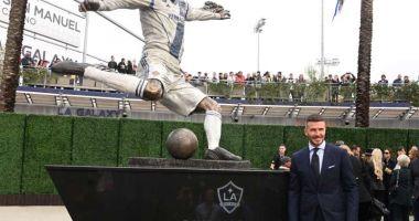 Beckham are statuie în fața stadionului lui Los Angeles Galaxy