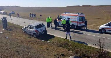 Accident rutier în județul Constanța. Trei mașini implicate, o victimă!