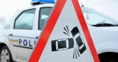 Șapte mașini implicate într-un accident rutier. Avarii de proporții