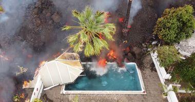 Sute de case au fost înghițite de lavă, în arhipelagul Canare