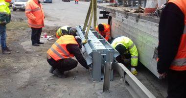 Atenție, dacă plecați la drum! CNAIR montează atenuatori de impact pe drumurile naționale