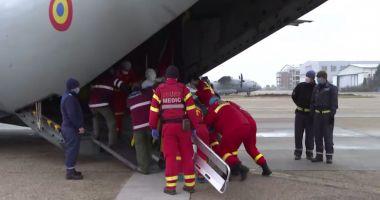 O aeronavă C-27J Spartan a transportat în Austria și Germania trei pacienți cu arsuri grave