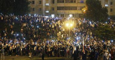 A treia noapte consecutivă de revolte în Belarus. Protestatarii contestă corectitudinea alegerilor prezidențiale