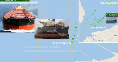 Carambol cu trei nave într-un port brazilian