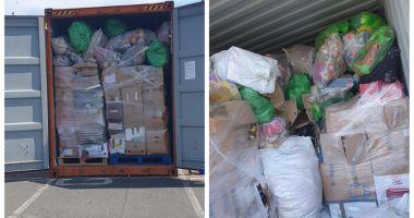 Încă un container cu deșeuri trimis din Anglia, găsit în Portul Constanța