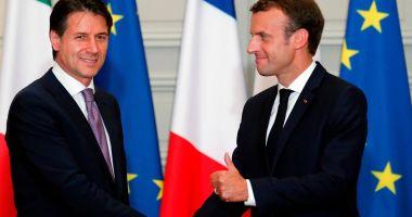 Conte și Macron, de acord pentru o repartizare europeană a migranților