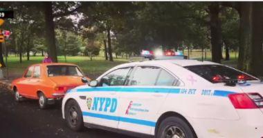 IMAGINEA ZILEI! Dacia 1300 a unui român, postată pe Facebook alături de o mașină a NYPD