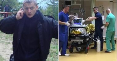 Polițistul lovit cu o sabie în misiune a fost mutat de la Terapie Intensivă în salon