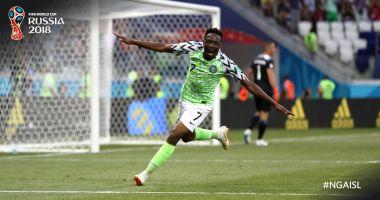 CM 2018. Nigeria - Islanda 2-0. Africanii câștigă în fața Islandei, iar Argentina revine în cărțile calificării