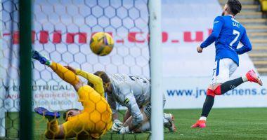 Fotbal / Gol şi penalty obţinut! Ianis Hagi, evoluţie excelentă pentru Rangers