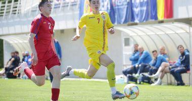 Fotbal / Adrian Mazilu și Adrian Caragea au marcat pentru România U16 în amicalul cu Moldova