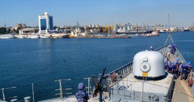 Fregata Regina Maria a acostat în portul Odessa