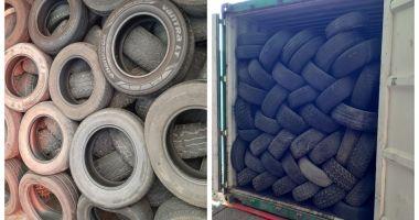 Containere cu anvelope uzate trimise din Australia, interceptate de Garda de Coastă