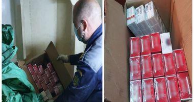 Țigări de contrabandă ascunse pe o navă, găsite de un câine polițist