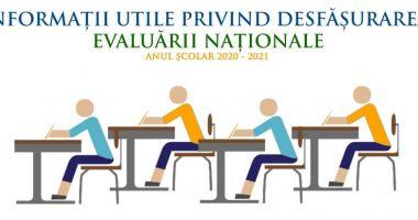 Ghid despre Evaluarea Națională 2021, postat de Ministerul Educației. S-a renunțat la triaj epidemiologic
