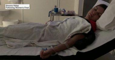 IMAGINEA SUFERINȚEI / Simona Halep, internată în spital după finala de la Australian Open