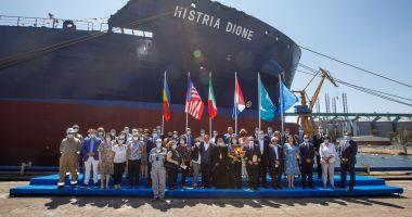 "Tancul de produse petroliere și chimice ""Histria Dione"" a primit botezul"