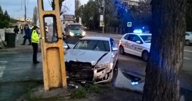 Accident rutier la Constanța, din cauza unui șofer care a tăiat linia dublă continuă