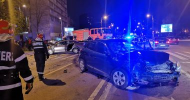 Galerie foto. Accident rutier la Constanța! Sunt scurgeri de combustibil