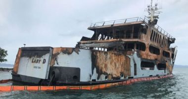 Incendiu devastator pe un mega yacht