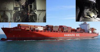 Incendiul pe un portcontainer în Panama. Un marinar a fost rănit