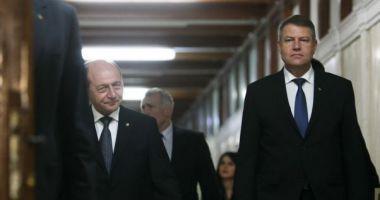 """Băsescu: """"La scorul ăsta, Iohannis e aproape unsul lui Dumnezeu"""""""