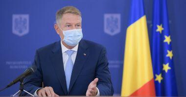 """Klaus Iohannis: """"Pandemia de COVID-19 ne pune în faţa unor noi provocări"""""""