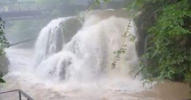 VIDEO. Circulație îngreunată din cauza precipitațiilor abundente, în județul Constanța