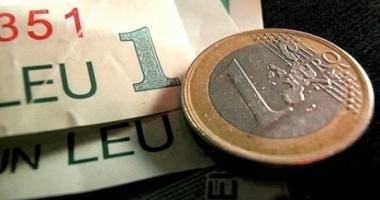 Euro a înghțit 2,23 bani. Iată cotația zilei