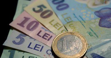 Euro a câștigat 0,02% în lupta cu leul