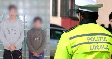 VIDEO / Tâlhari prinși de polițiștii locali