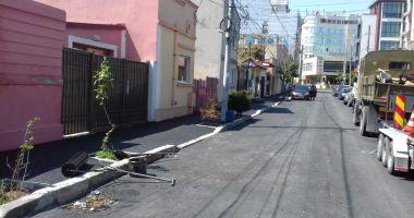 Lucrări de asfaltare reluate în Municipiul Constanța