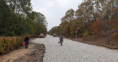 Primăria Mangalia asfaltează străzile din stațiunea Neptun cu fonduri UE