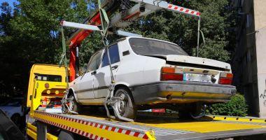 Maşinile abandonate, ridicate de pe domeniul public din Constanţa