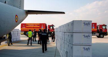 Materiale sanitare aduse din Turcia și Germania cu aeronave MApN