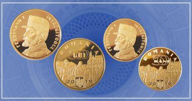 Monede de aur și alamă cu tema Desăvârșirea Marii Uniri – Regele Ferdinand I Întregitorul