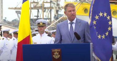 Klaus Iohannis: Forțele Navale Române sunt parte importantă a Armatei României