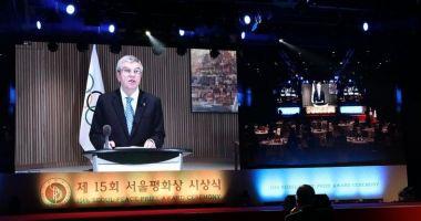 Olimpism / Thomas Bach va dona cei 200.000 de dolari primiţi o dată cu Premiul Seoul pentru Pace