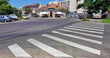 O nouă trecere de pietoni, pe strada Oborului din Constanța