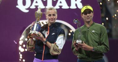 Tenis / Petra Kvitova, noua campioană de la Doha. A învins-o pe Garbine Muguruza