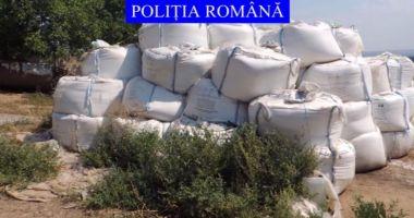 35 de tone de azotat de amoniu, depozitate necorespunzător, au fost găsite de polițiști