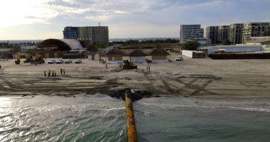 Se reiau lucrările de înnisipare a plajei din Mamaia. A fost ridicată restricţia impusă de DNA