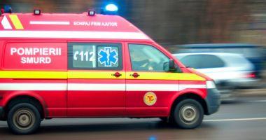 ACCIDENT RUTIER PE A2. Două autoturisme s-au răsturnat