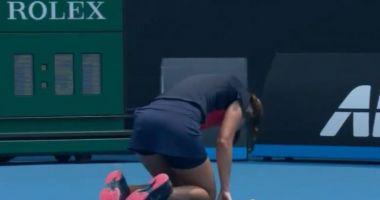 O jucătoare de tenis de la Australian Open a fost îngenuncheată de fumul produs de incendiile de vegetație