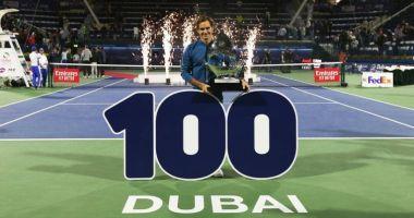100 turnee castigate pentru Roger Federer