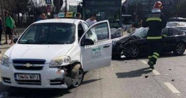 Soție de primar, implicată într-un accident rutier