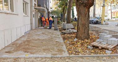 Lucrări de reabilitare a trotuarelor din Constanţa