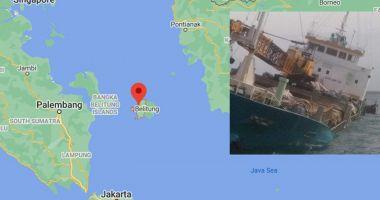 Un cargou s-a scufundat parțial în Marea Java