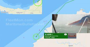 Un cargou se scufundă în rada portului Bartin, de la Marea Neagră. Doi marinari au murit